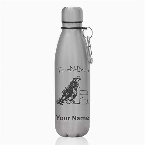Barrel Racer Horse - Water Bottle, Barrel Racer Turn N Burn, Personalized Engraving Included
