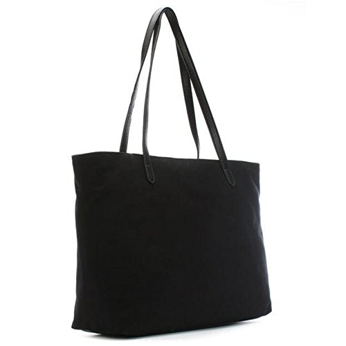 LOVE MOSCHINO Heart Logo Canvas Pebble Tote Bag, Black by MOSCHINO (Image #2)