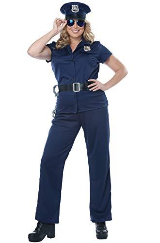 (California Costumes Women's Plus-size Police Woman - Adult Plus Costume Adult Costume, -Navy,)