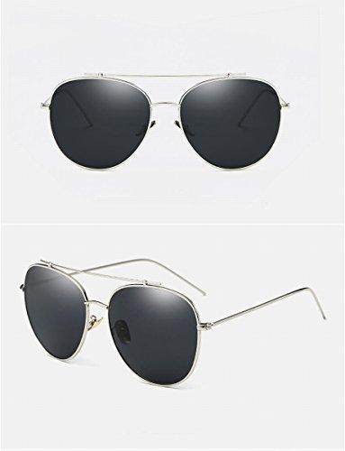 sonnenbrille Männer und frauen polarisierte sonnenbrille helle farbe sonnenbrille fahrspiegel mode brille silberrahmen schwarz grau Linse CEiJPK2