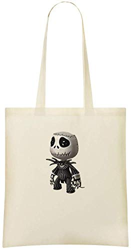 Custom Tote Use amp; Shoulder Cotton Perspective Handbag Custom Grocery Printed Stylish 100 Skellington For Friendly Everyday Bag Bags Jack Soft Eco HET1qXcx