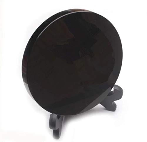 Mujia crystal Fortune 100mmTelling Toys Scrying Mirror of Smooth Black Obsidian Commune with Your Intuition