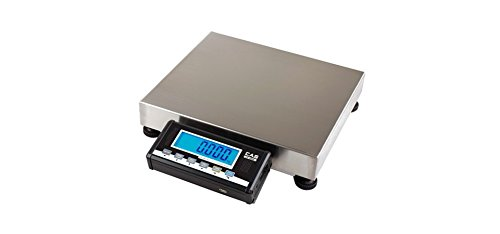 CAS GW-150 Bench Scale with Stainless steel Pan NTEP Legal For Trade, Parcel/ Shipping scale 150 lb x 0.05 lb
