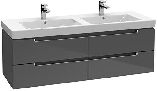 Villeroy & Boch Waschtischunterschrank Subway 2.0 A69910 1287x520x449 Glossy Grey, A69910FP