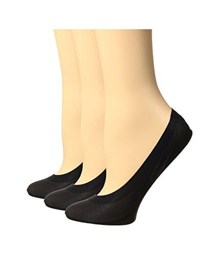 HUE Women's Perfect Edge Liner 3-Pack Black Sock
