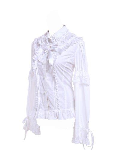 e7fe82ed6248f7 Antaina White Cotton Ruffle Lace Vintage Victorian Sweet Lolita Shirt Blouse