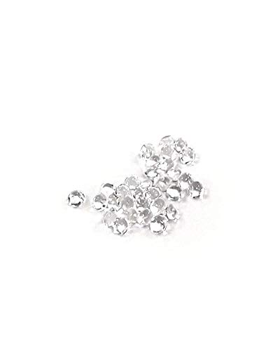 O'Creme Clear Edible Diamond Studs 6 Millimeters for Decorating Cakes and Cupcakes, 51 Studs