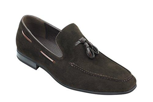 Xposed hombre Slip piel de borla Smart ante sintético conducción Zapatos Marrone de Formal Casual marrone On rxYqrXPwCI