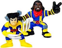 - Marvel Superhero Squad Series 14 Mini 3 Inch Figure 2-Pack Wolverine and Bishop