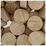 WIDGETCO 5/8'' Oak Wood Plugs, Face Grain