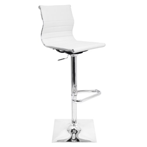 WOYBR BS-TW W Pu Leather, Chrome Master Barstool, 46