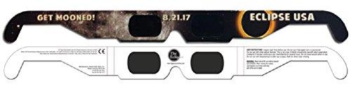 The Eclipser Safe Solar Eclipse Glasses CE Certified, Get Mooned Frame - 5 Pack