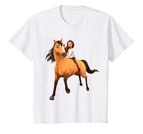 Kids DreamWorks Spirit Riding Free - Lucky & Spirit T-Shirt (Tshirt Spirit Free)