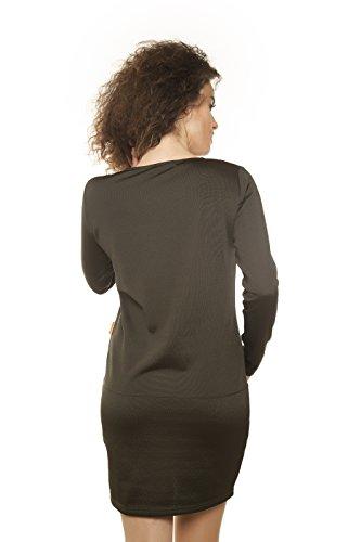 010 Kleid Casual Medici Mamatayoe Damen Braun Khaki 5YUqpaEx