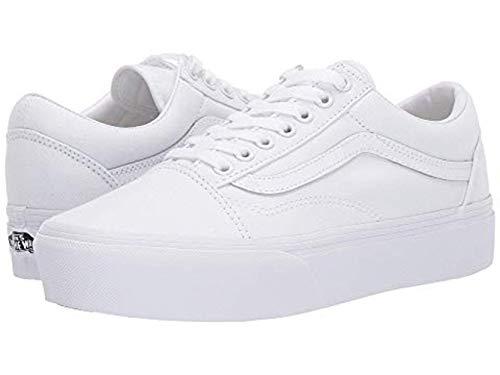 Vans Old Skool Platform True White Mens 8.5/Womens 10