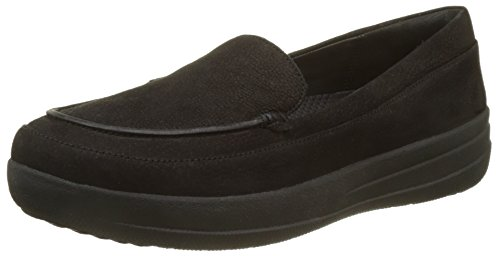 Fitflop F-Sporty Loafer Nubuck, Mocasines Para Mujer Black (Black)