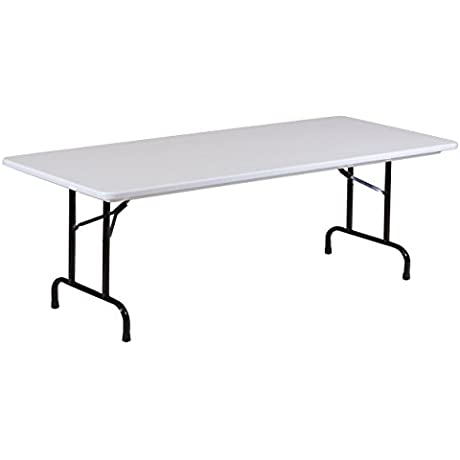 Correll R3096A 23 12 Pack R Series Blow Molded Plastic Folding Table 30 X 96 Gray Granite
