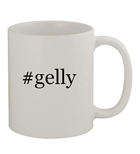 #gelly - 11oz Sturdy Hashtag Ceramic Coffee Cup Mug, White
