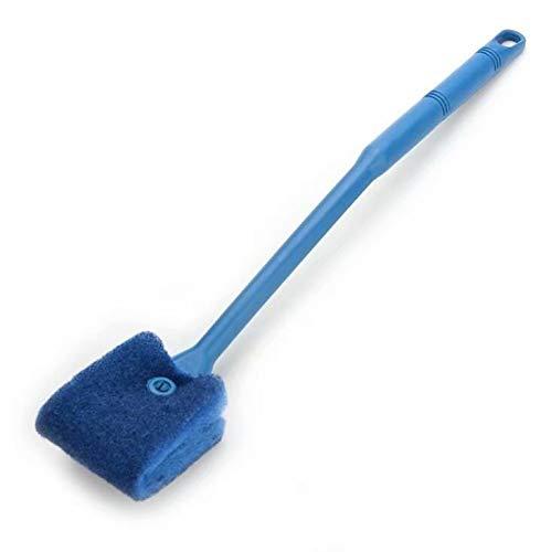 SODIAL(R) Cepillo Limpiador de Esponja Azul Doble Lado para Acuario