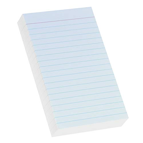 (Home Advantage Vertically Ruled White Mini Index Cards, Note Cards (3x5))