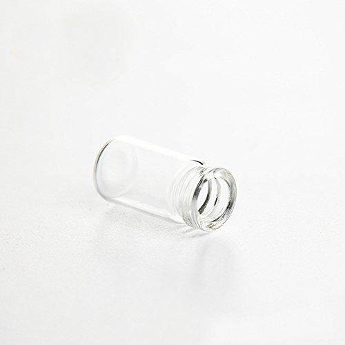 Katoot@ 11x22MM Cork Wood Mini Glass Bottles 100PCS Plastic Stopper Small Bottle Vial Jars Pendants Craftwork Drift Bottle Storage Craft (Cork Stopper)