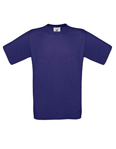 T-Shirt Exact 190 Basics Rundhals Shirt viele Farben B&C S-XXL XXL,Indigo