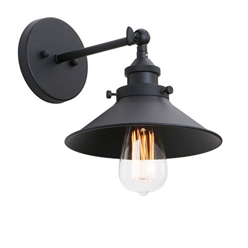 (Phansthy Industrial Wall Sconce Light 7.87 Inches Vintage Style 1-Light Sconce Light Shade)