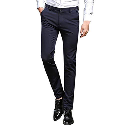 Mode Costume Confortables Coupe Vêtements À Droite Dunkelblau Pantalon Chinoise Tailles Jambe Hx Décontractée Hommes Affaires Slim Plat qfCSdR