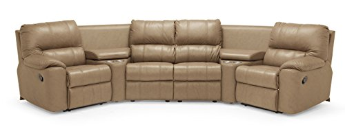 Angled Sofa (Sidney 41076 4-Seat Console Separated Angled  Reclining Sectional, Classic Sandstone)