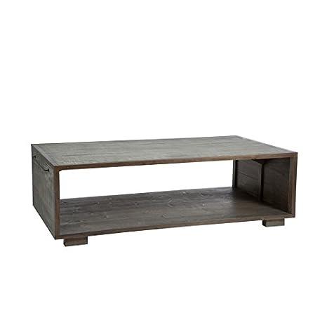 DESIGN AND VINTAGE Table Basse de Salon Malaga 2 Bois Gris ...