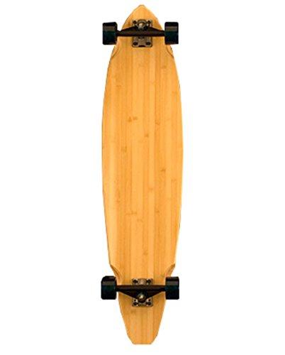 Bamboo Skateboards Square Tail Blank Longboard Complete Skateboard, 38.75