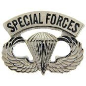 Metal Lapel Pin - US Army Pin - US Army Special Forces Paratrooper Wings 1-1/4