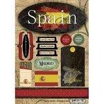 Scrapbook Customs - World Collection - Spain - Cardstock Stickers - - Scrapbooking Spain