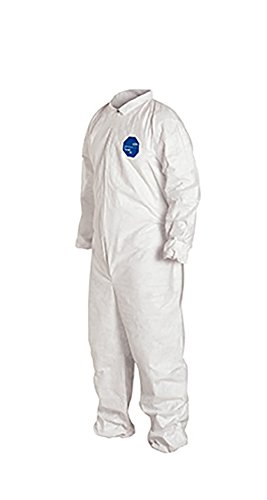 DuPont Tyvek 400 TY125S Disposable Protective Coverall with Elastic Cuffs, White, X-Large (Pack of 25) by DuPont (Image #4)