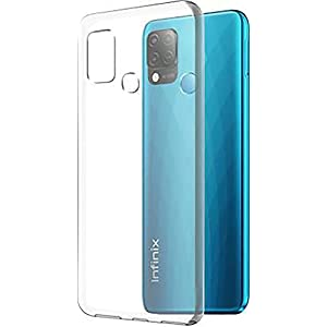 Sars Soft Silicon Protective Flixible TPU Back Case Cover for Infinix Hot 10s – Transparent