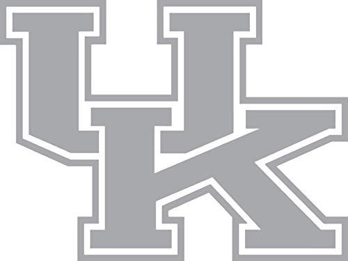 (CalnylCorp University of Kentucky Wildcats Sticker Decal (Silver, 8