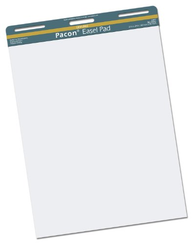 Pacon Easel Pad, 27''X34'', Unruled, White, 50 Sheets by Pacon