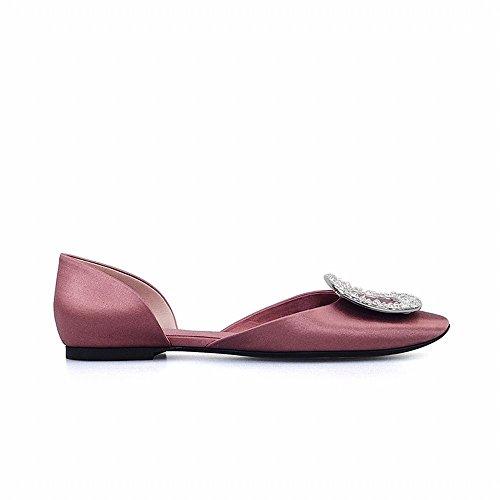 Boucle Bouche Diamant Plates Chaussures Peu Ronde Profonde SED Sauvage Tempérament Bouche E Creux qxfdxwX4