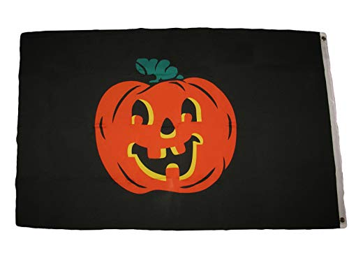 Hebel 3X5 Pumpkin Flag 3x5 Halloween Jack Olantern Decoration Banner Premium   Model FLG - 999 -