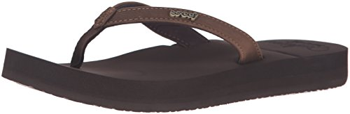 Reef Women's Cushion Luna Sandal, Brown, 11 M US by Reef