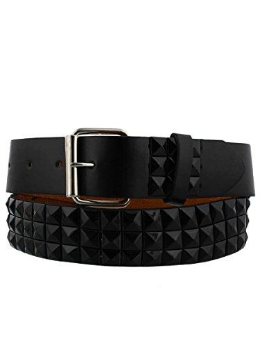 Pyramid Studded Belt Black - Black Pyramid Belt Studded