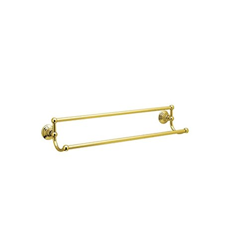 Rohl ROT20/24PN 24-Inch Country Bath Double Towel Bar in Polished Nickel by Rohl