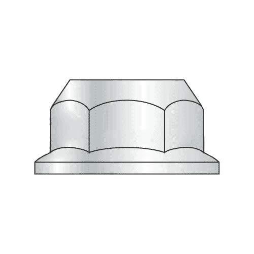 M16-2.00 Hex Flange Nuts/Non-Serrated/Class 8 / Zinc/DIN 6923 (Quantity: 300)