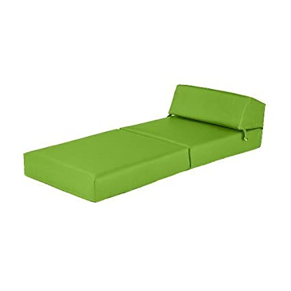 Phenomenal Lime Green Faux Leather Single Fold Out Foam Z Bed Guest Caraccident5 Cool Chair Designs And Ideas Caraccident5Info
