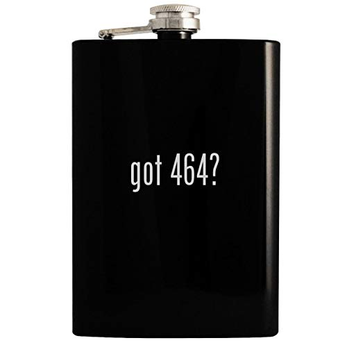 got 464? - 8oz Hip Drinking Alcohol Flask, Black