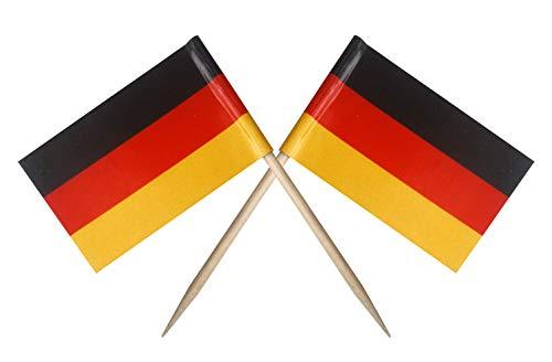 Germany German Toothpick Garnish Flags by Nesha (100 - German Picks Flag