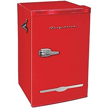 Frigidaire Retro Bar Fridge Refrigerator with Side Bottle Opener, 3.2 cu. ft, Red