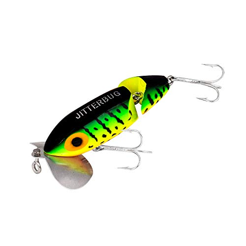 Arbogast Jointed Jitterbug Fishing Lure - Fire Tiger - 3 1/2 in - Jitterbug Fishing Lure