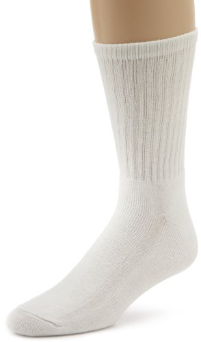 Wigwam Super 60 Crew 3 Pack Socks, White, Sock size : Large (shoe Size : Men's 9-12, Women's 10-13) 3 Pack Crew Socks