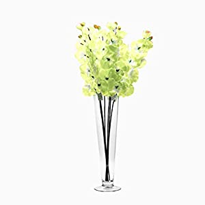 """Ohah Craft Artificial 28"""" Butterfly Orchid Flower Plant, Sold by Pack of 6 Pieces (Ivory) 120"""